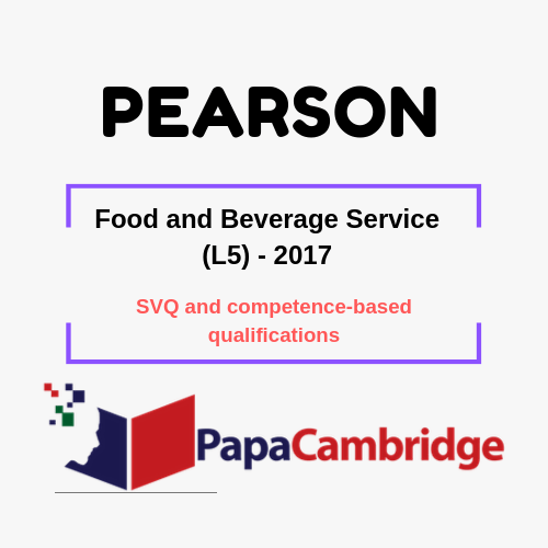 Food and Beverage Service (L5) - 2017 SVQ and competence-based qualifications Syllabus