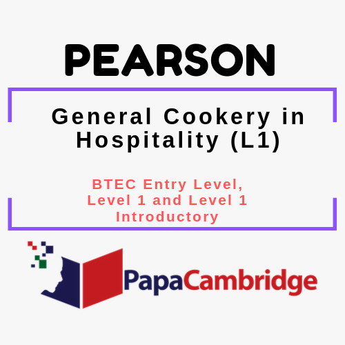 General Cookery in Hospitality (L1) BTEC Entry Level, Level 1 and Level 1 Introductory PPT Slides