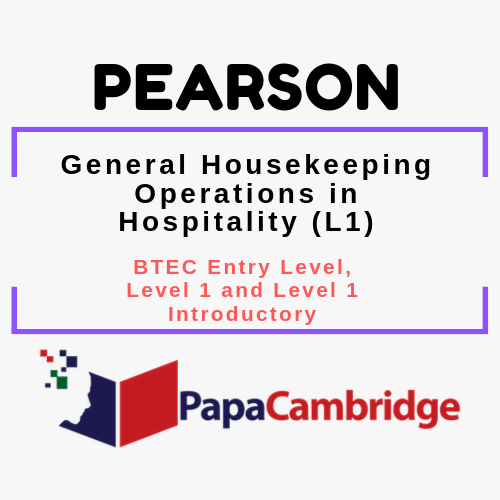 General Housekeeping Operations in Hospitality (L1) BTEC Entry Level, Level 1 and Level 1 Introductory PPT Slides