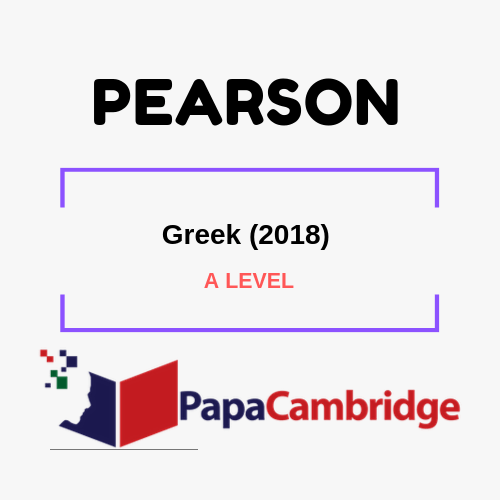 Greek (2018) A levels Past Papers