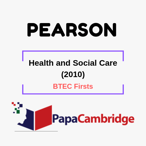 Health and Social Care (2010) BTEC Firsts Syllabus