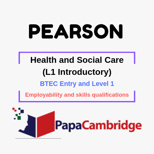 Health and Social Care (L1 Introductory) Employability and skills qualifications Past Papers