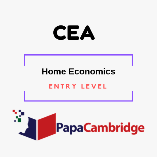 Home Economics Entry Level Ebooks