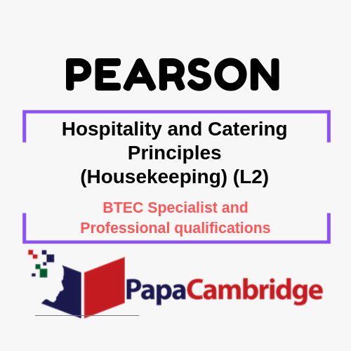 Hospitality and Catering Principles (Housekeeping) (L2) Notes