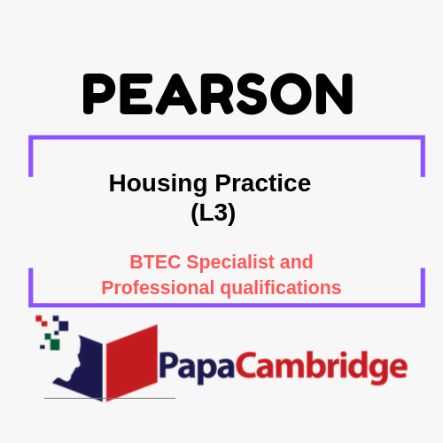 Housing Practice (L3) BTEC Specialist and Professional qualifications Past Papers