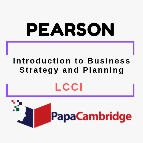 Introduction to Business Strategy and Planning LCCI Syllabus