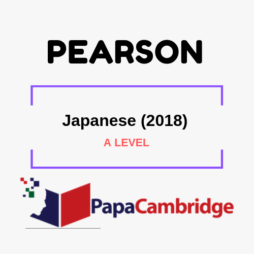 Japanese (2018) A levels Past Papers