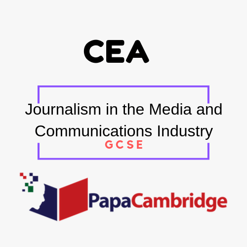Journalism in the Media and Communications Industry General Certificate of Secondary Education PPT Slides