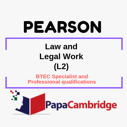 Law and Legal Work (L2) Notes