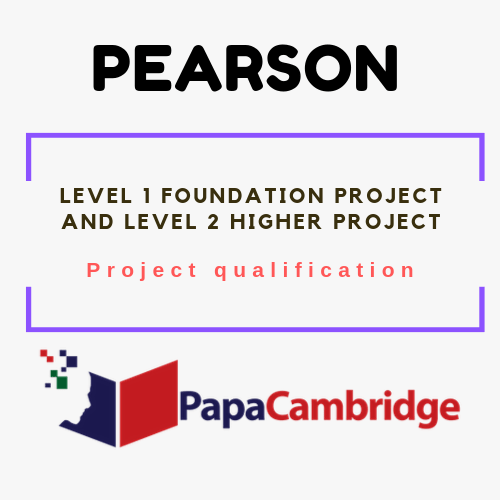 Level 1 Foundation Project and Level 2 Higher Project Project qualification Syllabus