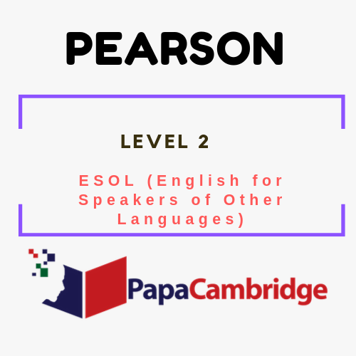 Level 2 Edexcel ESOL (English for Speakers of Other Languages Syllabus