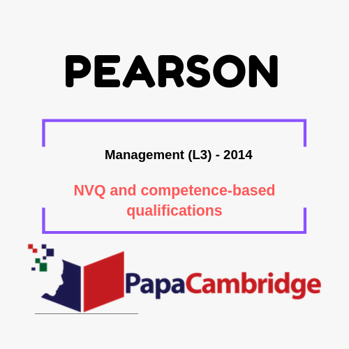 Management (L3) - 2014 NVQ and competence-based qualifications Past Papers