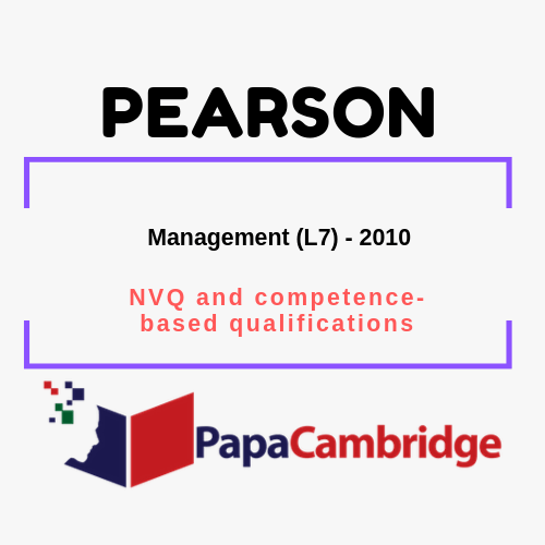 Management (L7) NVQ and competence-based qualifications Past Papers