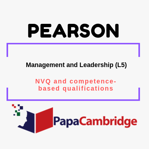 Management and Leadership (L5) | pearson |  NVQ and competence-based qualifications | Ebooks