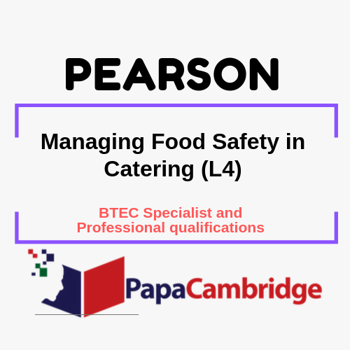 Managing Food Safety in Catering (L4) Notes