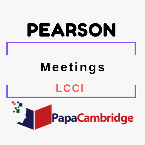 Meetings LCCI Past Papers