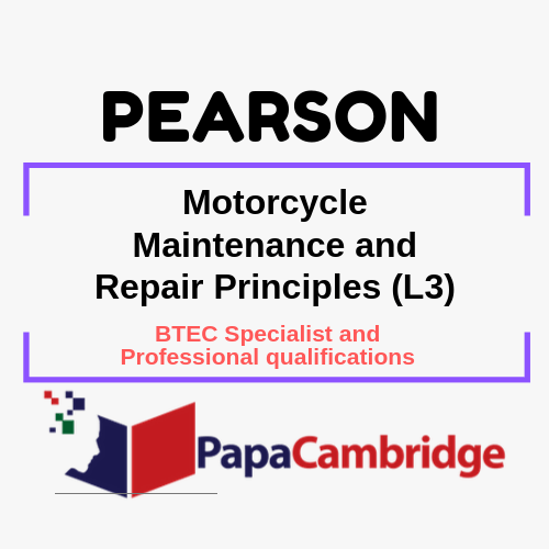 Motorcycle Maintenance and Repair Principles (L3) Notes