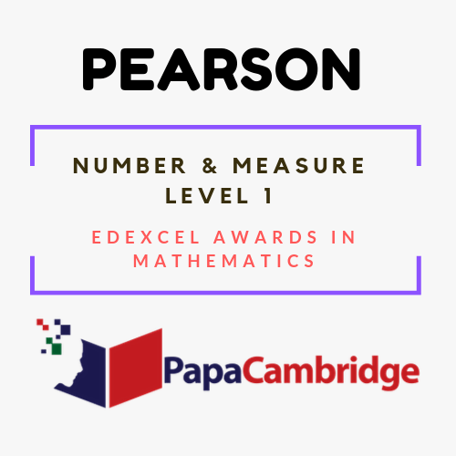 Number and Measure Edexcel Awards in mathematics Past Papers