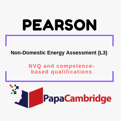 Non-Domestic Energy Assessment (L3) NVQ and competence-based qualifications Past Papers