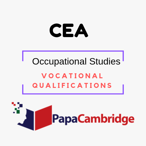 Occupational Studies Vocational Qualifications Notes