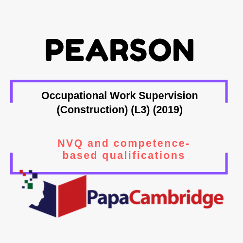 Occupational Work Supervision (Construction) (L3) (2019) Notes