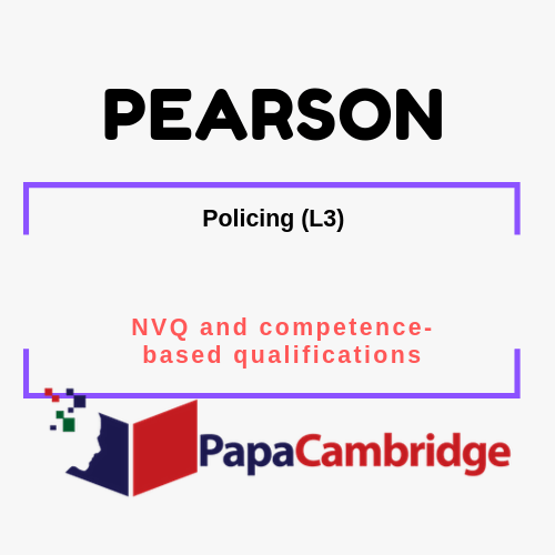 Policing (L3) - 2016 NVQ and competence-based qualifications Syllabus