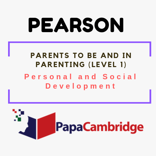 Parents to be and in Parenting (Level 1) Personal and Social Development Syllabus
