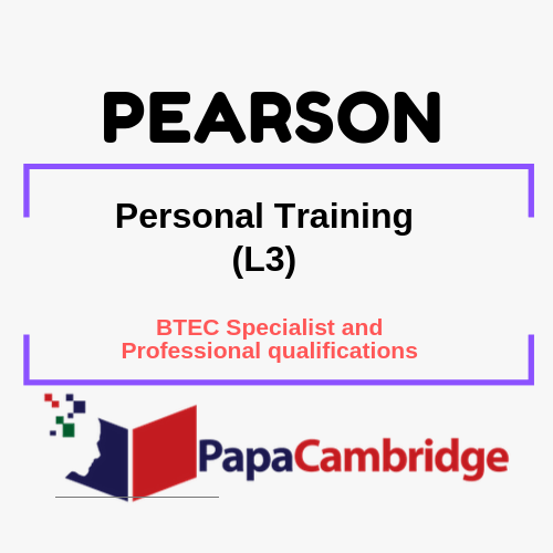 Personal Training (L3) BTEC Specialist and Professional qualifications Syllabus