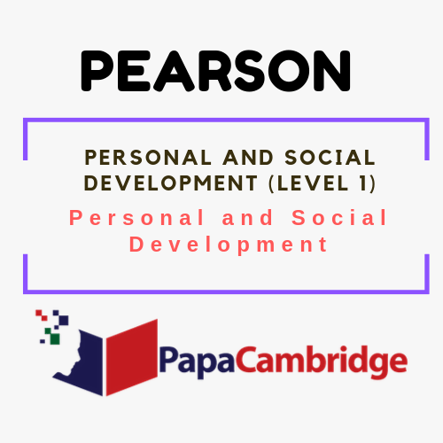 Personal and Social Development (Level 1) Personal and Social Development Syllabus