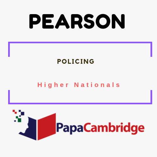 Policing Higher Nationals Syllabus