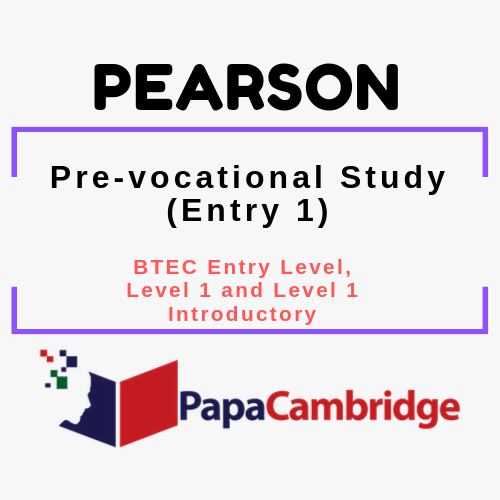 Pre-vocational Study (Entry 1) BTEC Entry Level, Level 1 and Level 1 Introductory Syllabus