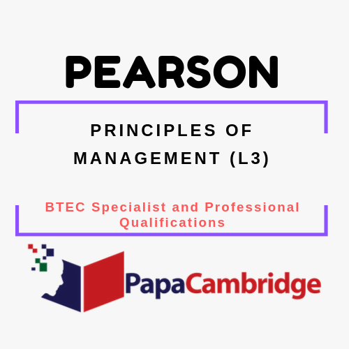 Principles of Management (L3) - 2015 BTEC Specialist and Professional qualifications Past Papers