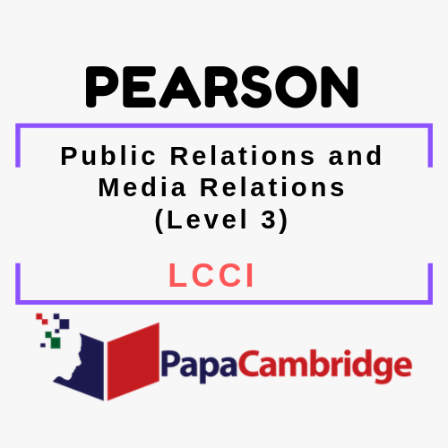 Public Relations and Media Relations (Level 3) LCCI Syllabus
