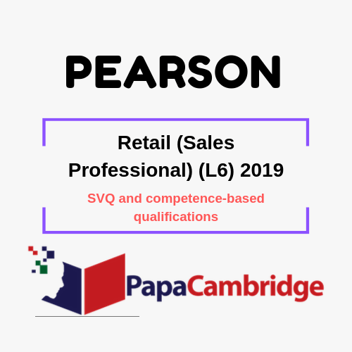 Retail (Sales Professional) (L6) 2019 SVQ and competence-based qualifications Syllabus