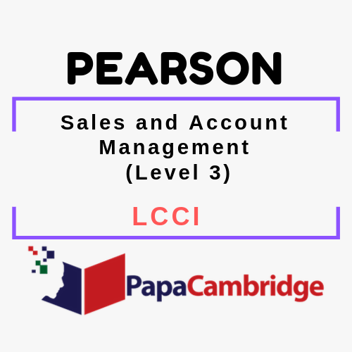 Sales and Account Management (Level 3) LCCI Syllabus