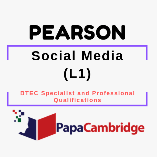 Social Media (L1) BTEC Specialist and Professional qualifications Syllabus