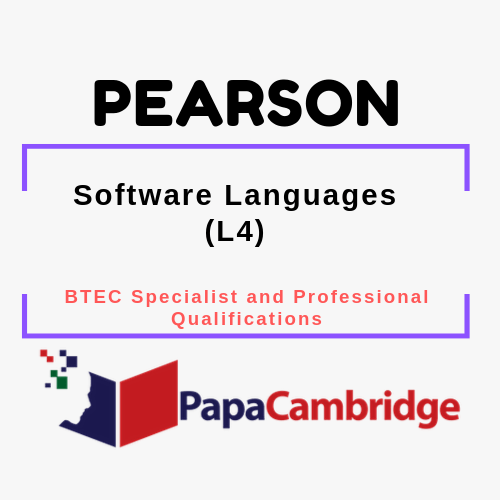 Software Languages (L4) BTEC Specialist and Professional qualifications Past Papers