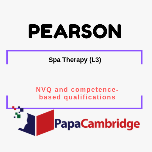 Spa Therapy (L3) NVQ and competence-based qualifications Syllabus