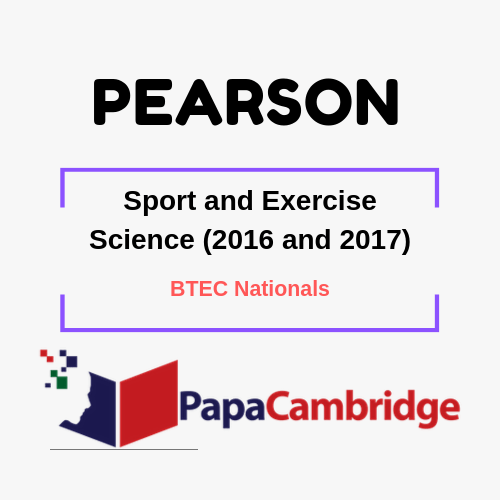 Sport and Exercise Science (2016 and 2017) BTEC Nationals Syllabus