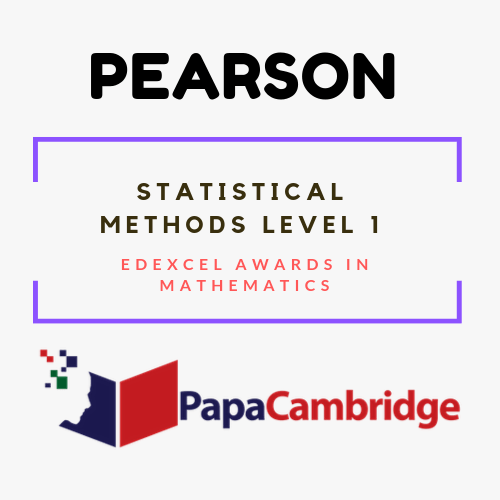 Statistical Methods Level 1 Edexcel Awards in mathematics Syllabus