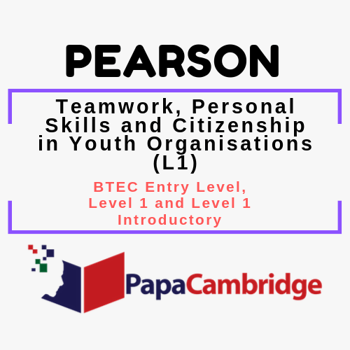 Teamwork, Personal Skills and Citizenship in Youth Organisations (L1) BTEC Entry Level, Level 1 and Level 1 Introductory Syllabus