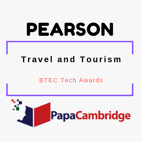 Travel and Tourism BTEC Tech Awards Past Papers