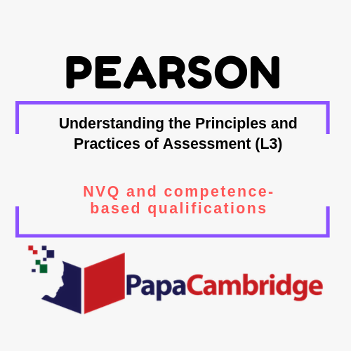 Understanding the Principles and Practices of Assessment (L3) NVQ and competence-based qualifications Past Papers