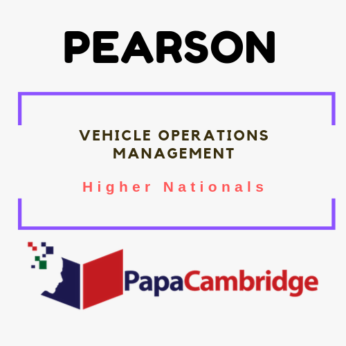 Vehicle Operations Management Notes