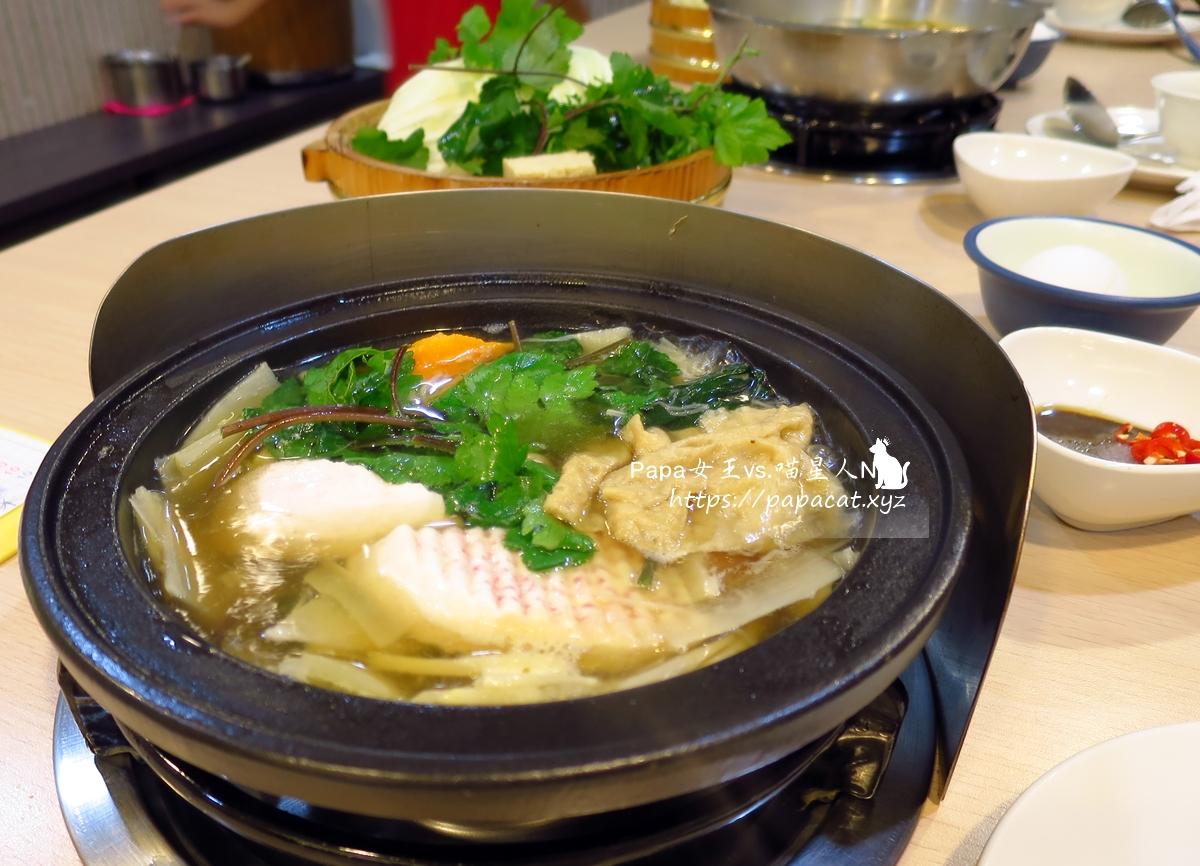 台中 |蔬食 天元素食石頭火鍋-個人鍋 熬煮好湯頭,搭配季節性蔬食18種享鍋連番上鍋,真的很飽