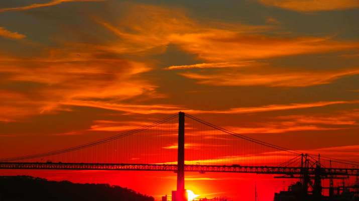 Sonnenuntergang in Lissabon