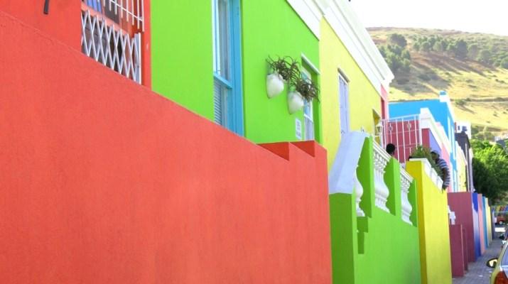 Bunte Häuser im Bo-Kaap Viertel