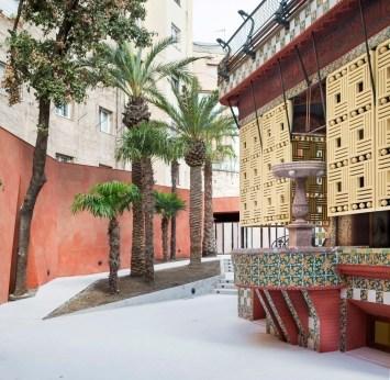 Palmen der Casa Vicens in Barcelona