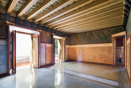 Schlafzimmer in der Casa Vicens