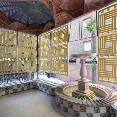 Springbrunnen in der Casa Vicens in Barcelona